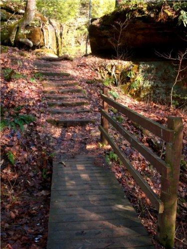 Wooden Rock Bridge
