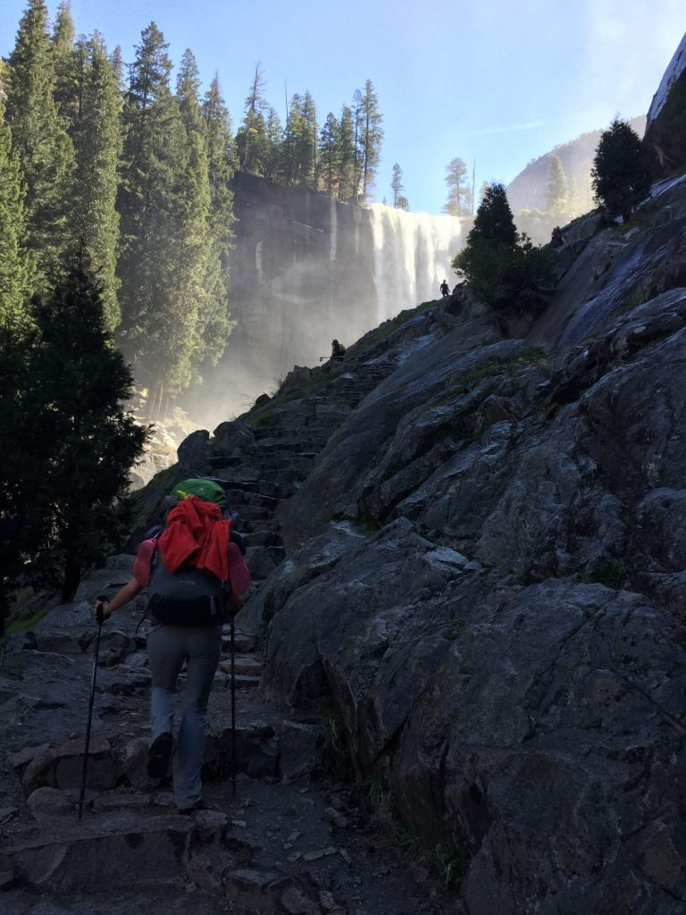 Hiking up the Mist Trail
