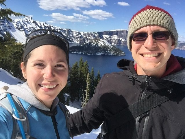 selfie at Crater Lake and Wizard Island