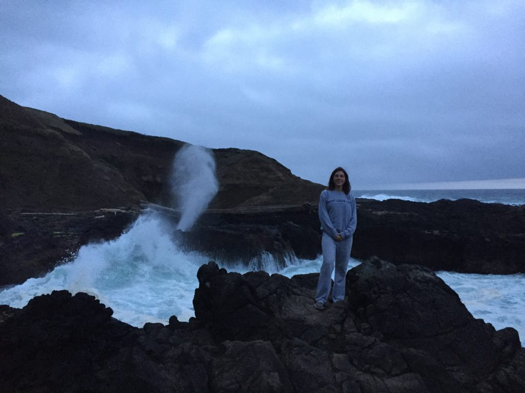 standing next to the Spouting Horn