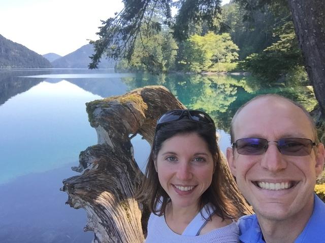 Lake Crescent selfie