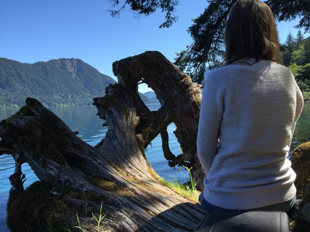 enjoying the view - Lake Crescent